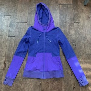Lululemon 🍋 purple hooded jacket size 2